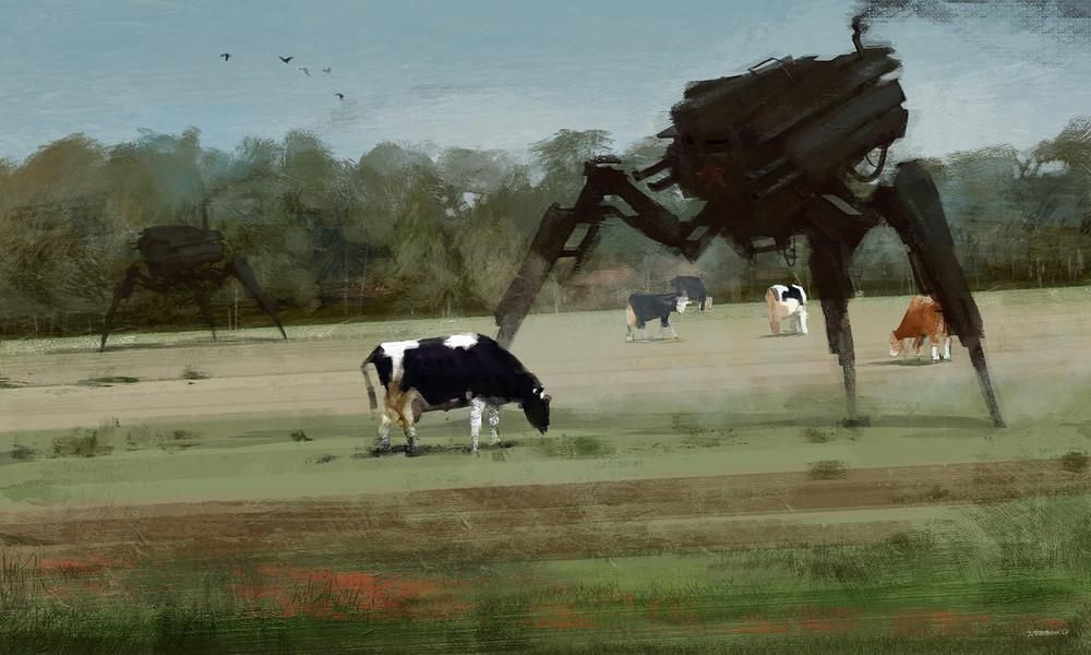 A Polish Painter Combined Rural Landscapes with Giant Robots | VICE | United States