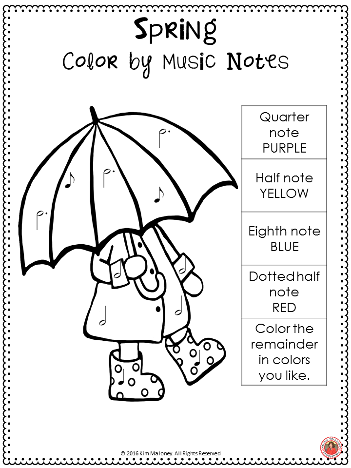 SPRING! Free music worksheet.! Join the MTR Email Club for