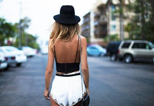 hipster, style, fashion, black hat women clothes outfit street