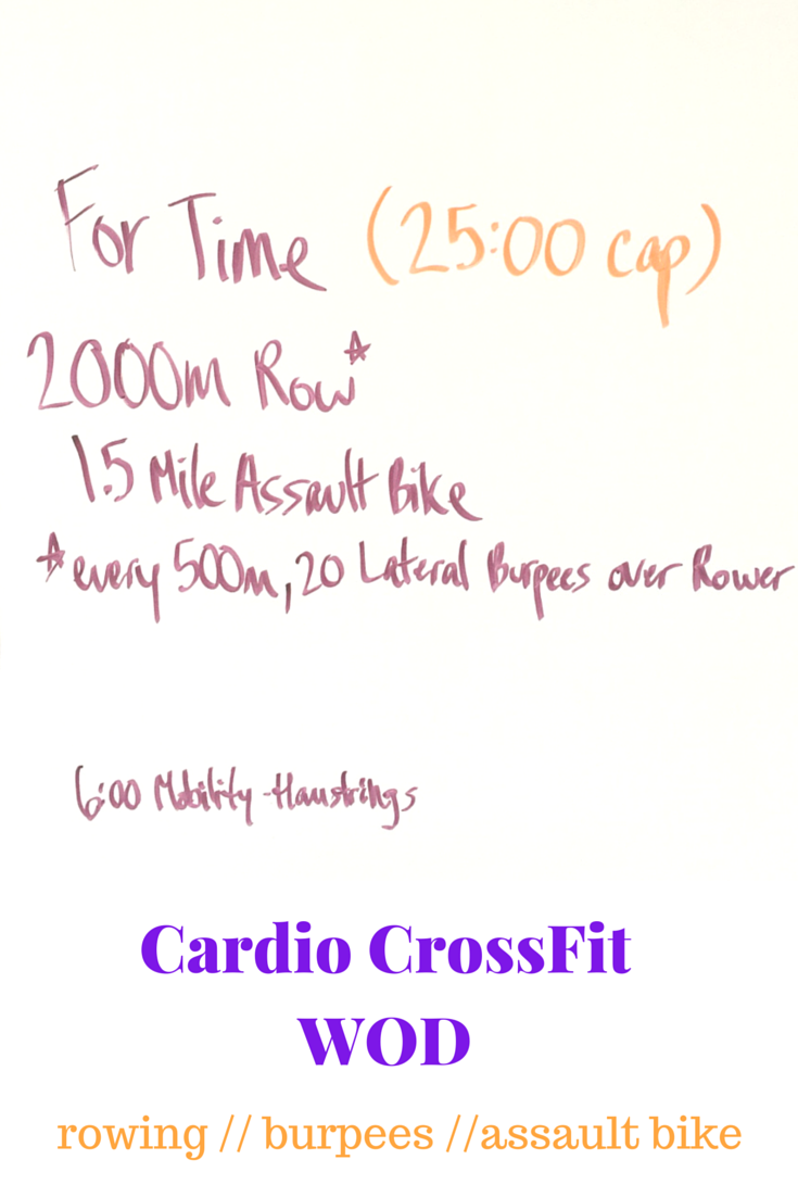 Making The Gains Cardio Crossfit Wod With Rowing Burpees And