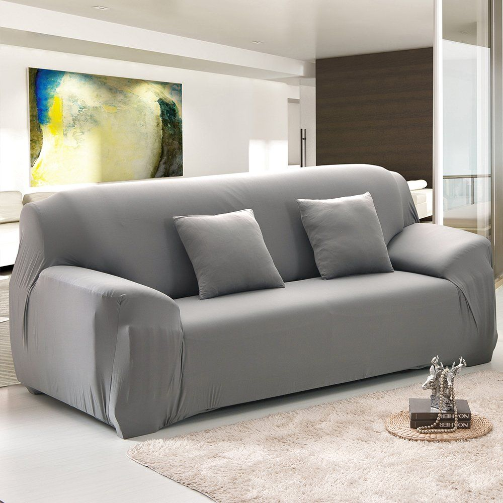 Cherry Juilt Stretch Sofa Cover 1piece Spandex Nonslip Couch Slipcover 3 Seater Polyester Furnitur Slip Covers Couch Couch Covers Slipcovers Couch And Loveseat