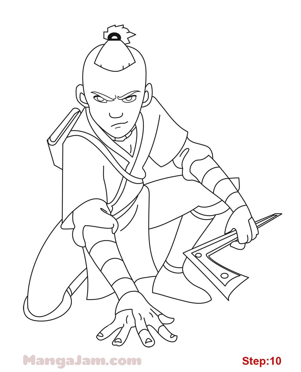 How to Draw Sokka from Avatar in 2020