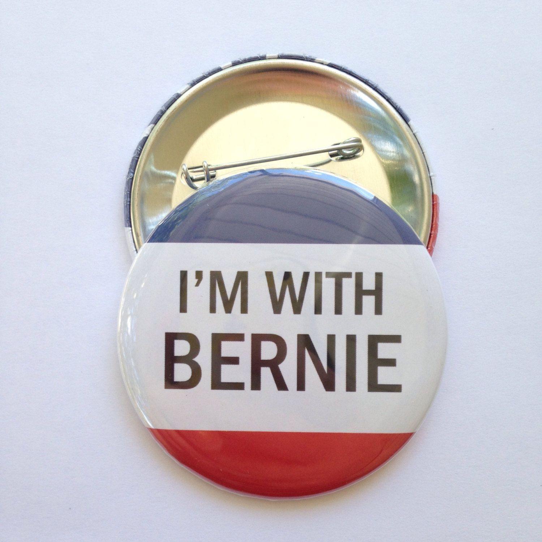 i m with bernie bernie sanders 2016 pinback button magnet