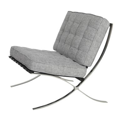Would Love To Do Grey Upholstered Barcelona Chairs Barcelona