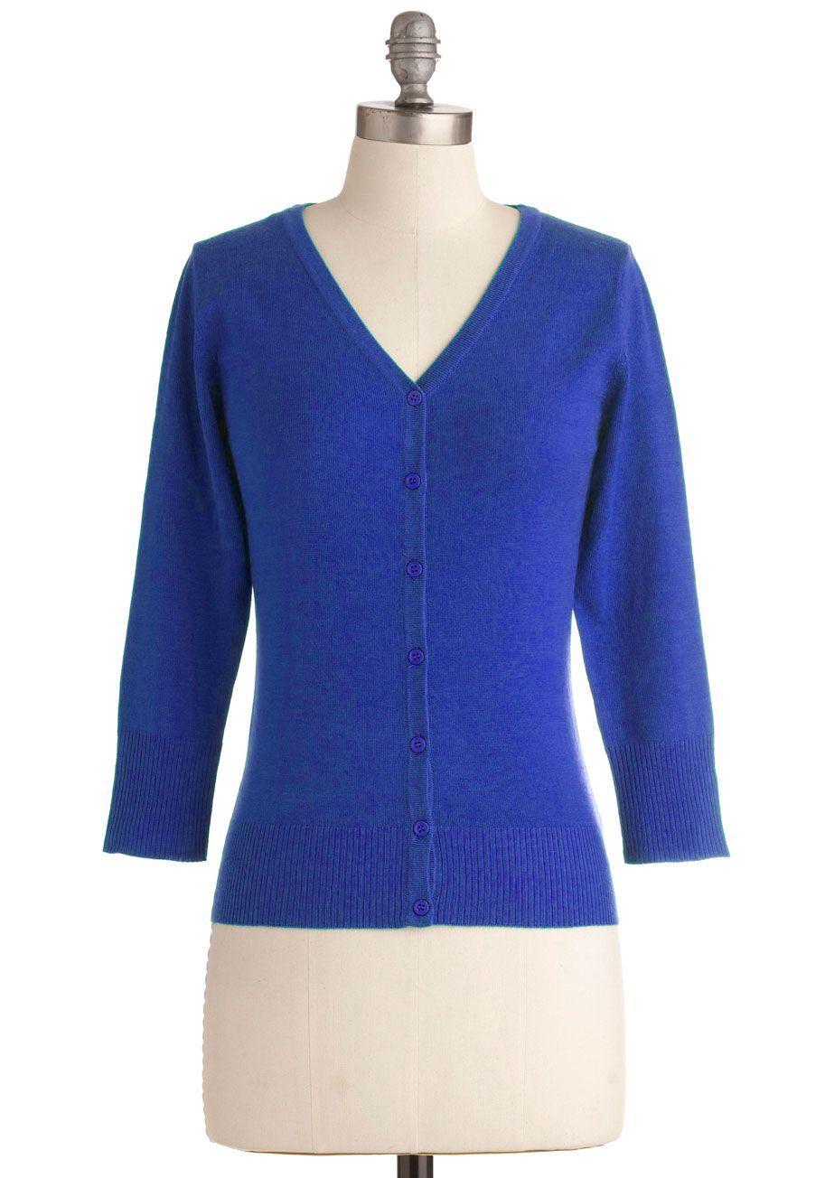 Charter School Cardigan in Royal Blue | ModCloth, Royal blue and ...