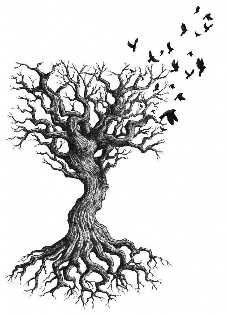 dead tree tattoo tattoo pinterest dead tree tattoo tattoo and rh pinterest com half dead tree tattoos dead tree tattoo with heart hanging