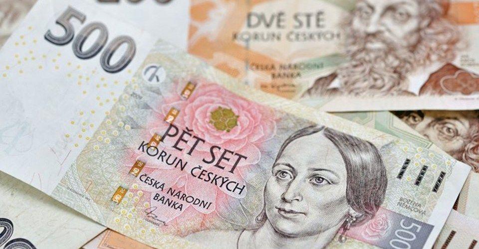Czech Crowns Ceske Koruny Currency Tres Bohemes Beautiful Art On