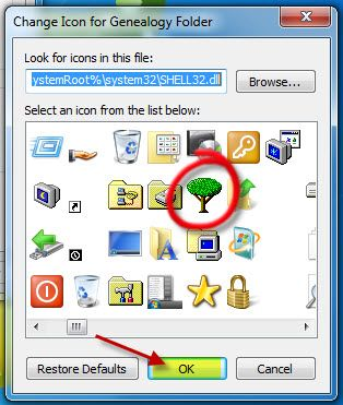 How to create a Unique Icon for Family Tree Folder on your Desktop ~ Teach Me Genealogy