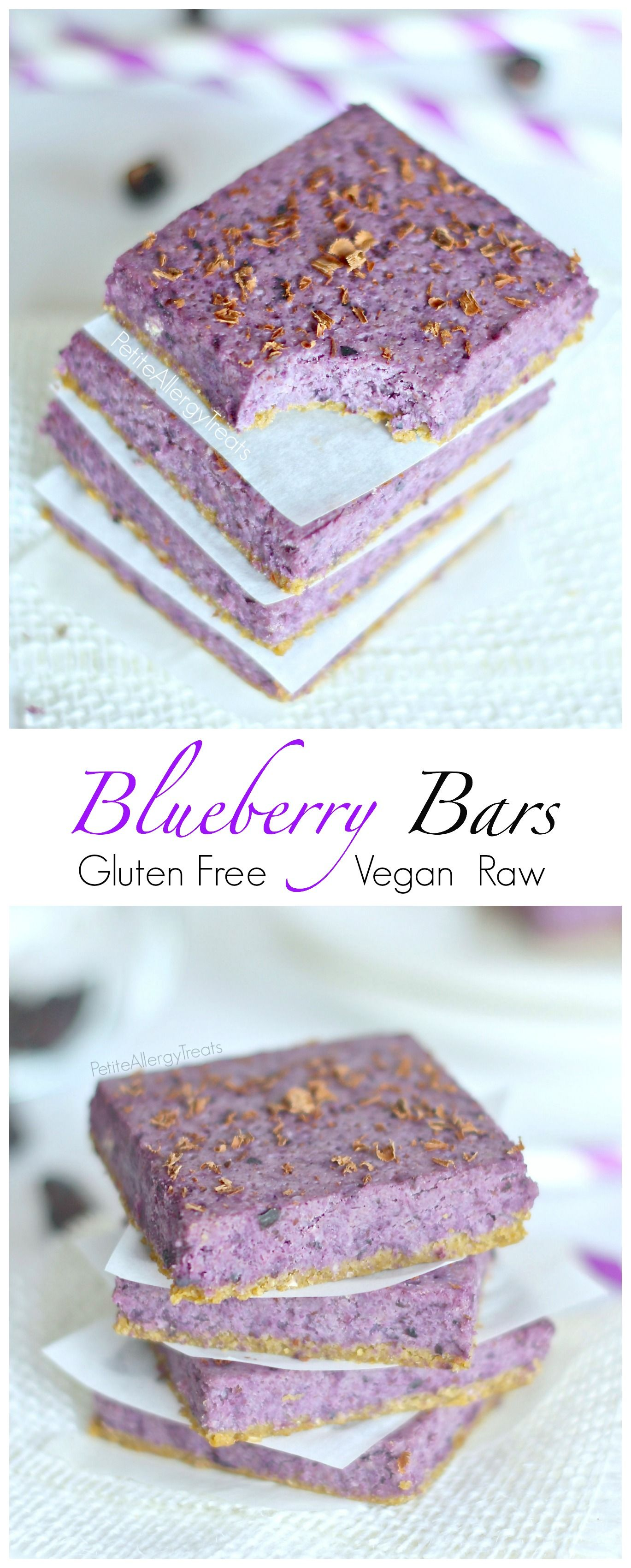 Blueberry Bars Raw Vegan Gluten Free Recipe Vegan Gluten