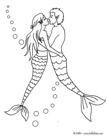 MERMAID coloring pages Mermaid with a dolphin Coloring pages