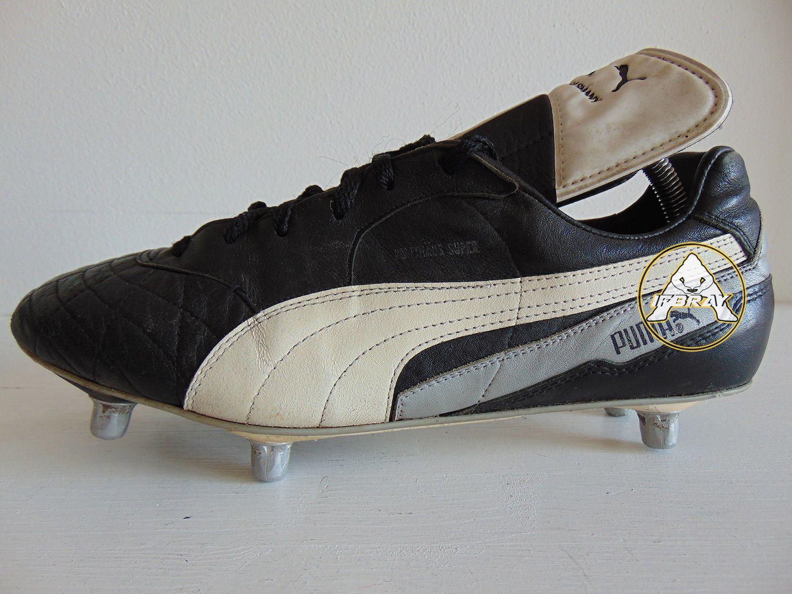 6ce3213da Vintage 80 90 Puma MATTHAUS Super 44 Soccer Shoes 10 Boots 6 Studs West  Germany