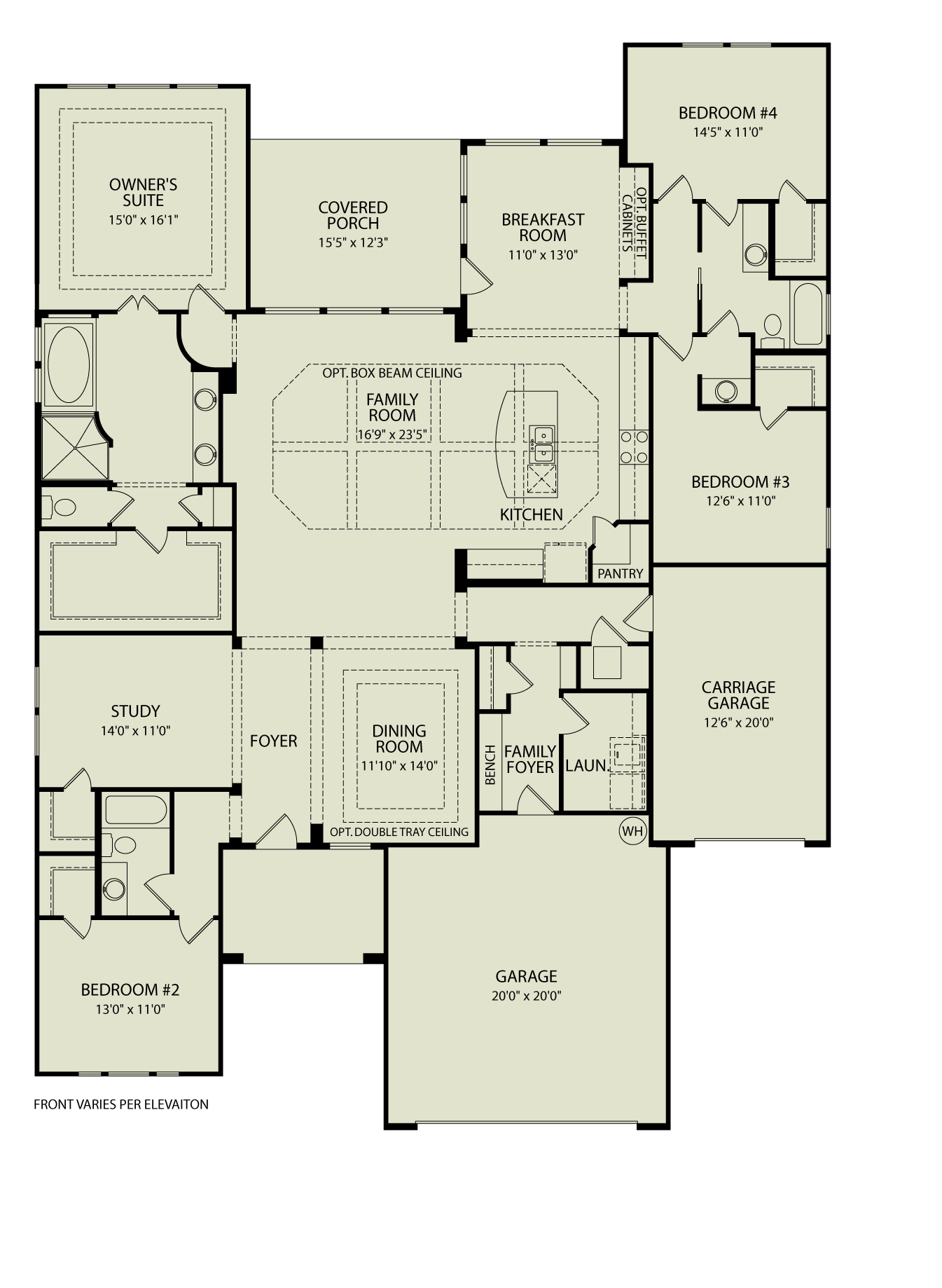Northgate 372 drees homes interactive floor plans for Custom dream home floor plans