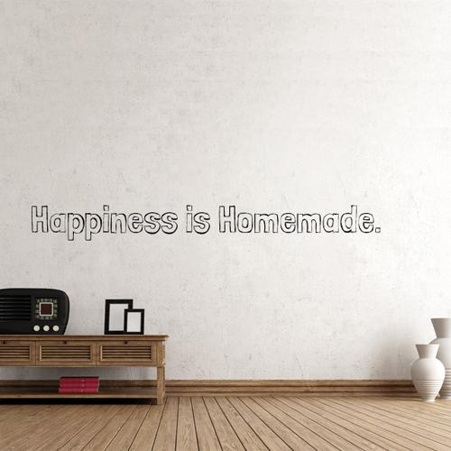 Wandtattoo  -  happiness is homemade