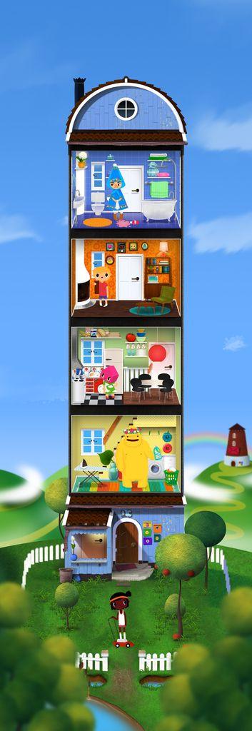 Loooooooooooooooooooovely game \u003e The house in Toca House by Toca