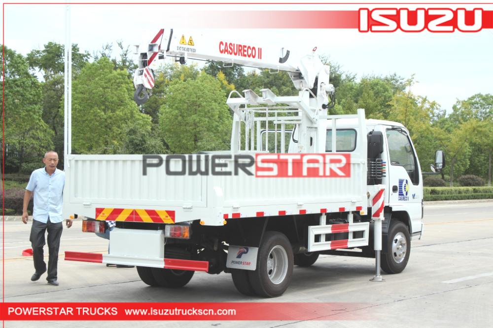 Japan ISUZU Manlifter truck basket crane vehicle for sale