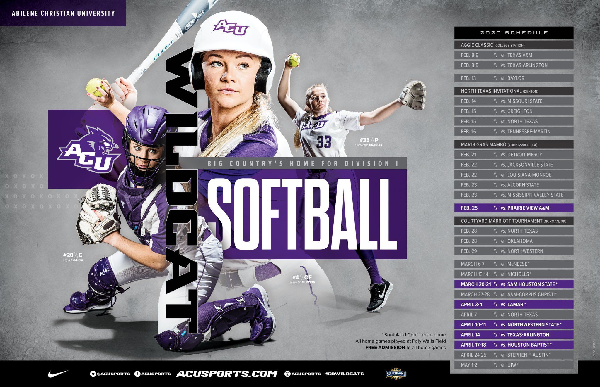 Pin By Josh Neuhart On Sposters In 2020 Sports Graphics Abilene Christian Big Country