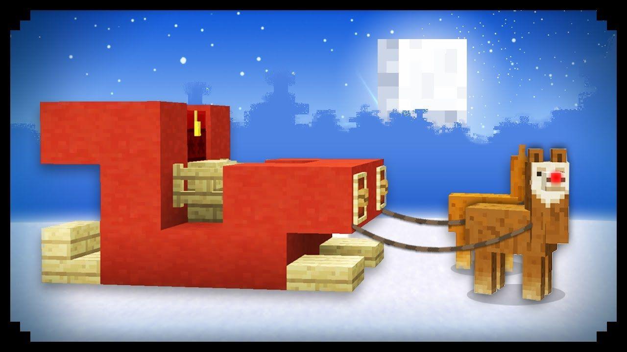 Christmas Minecraft Santa.Minecraft How To Make Santa S Sleigh Minecraft Santa