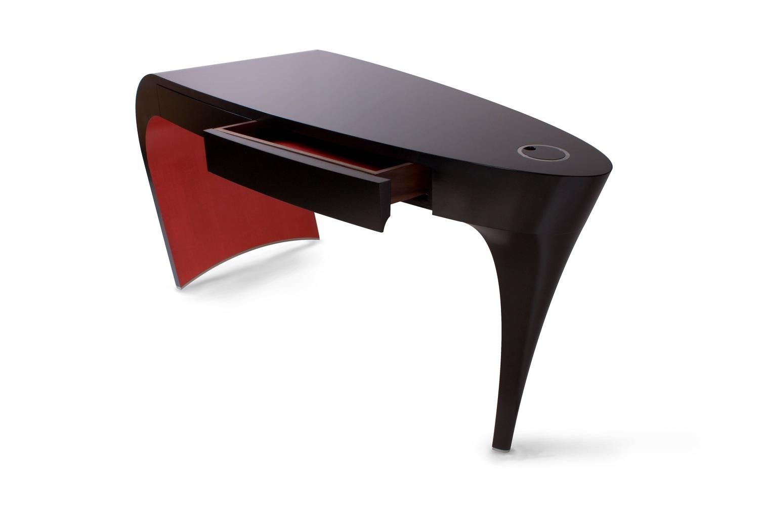 Black Lacquer And Red Contemporary Stiletto Shoe Desk Or Dressing Table  Vanity