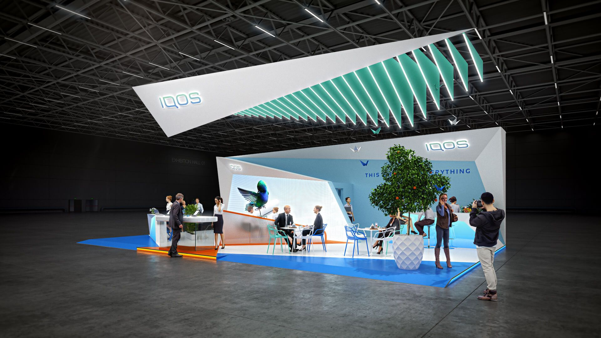Gm Exhibition Stand Design : Iqos exhibition booth design concept gm stand design