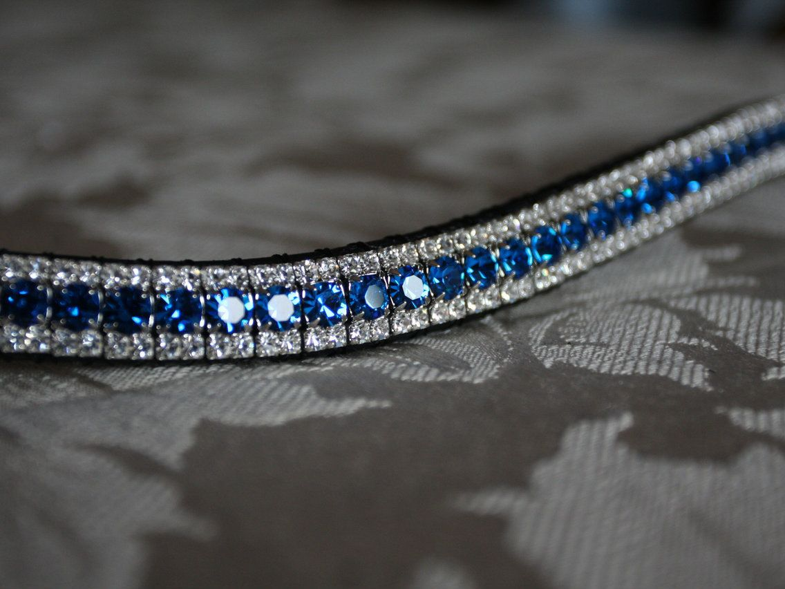 Equiture - Capri blue and clear browband, $59.57 (http://www.equiture.biz/capri-blue-and-clear-browband/)