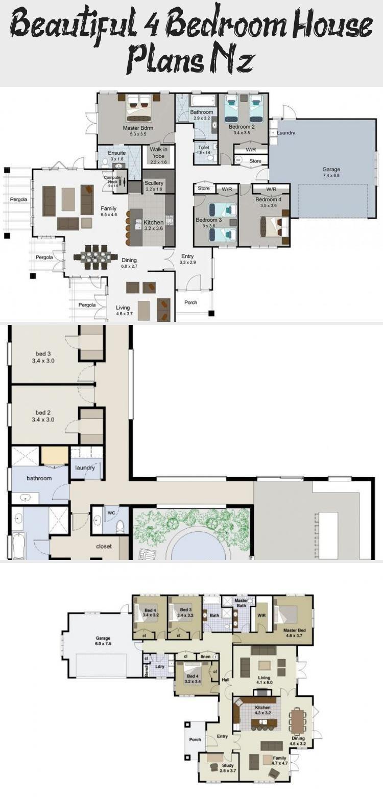4 Bedroom House Plans Nz Fresh Zen Lifestyle 5 5 Bedroom House Plans New Zealand Ltd Floorplans4bedroom3 In 2020 4 Bedroom House Plans Bedroom House Plans House Plans