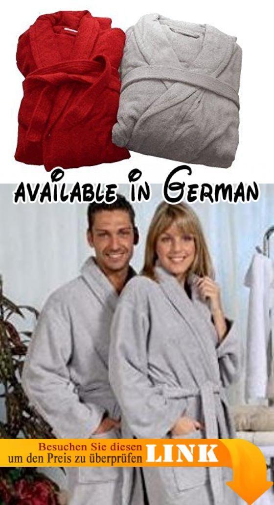 Frottee kuschel Bademantel / Saunamantel / Morgenmantel für Damen ...