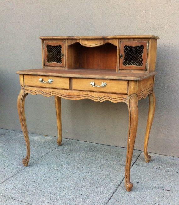 Writing Desk,French Provincial Furniture,Computer Desk,Home Office Desk, Shabbyu2026