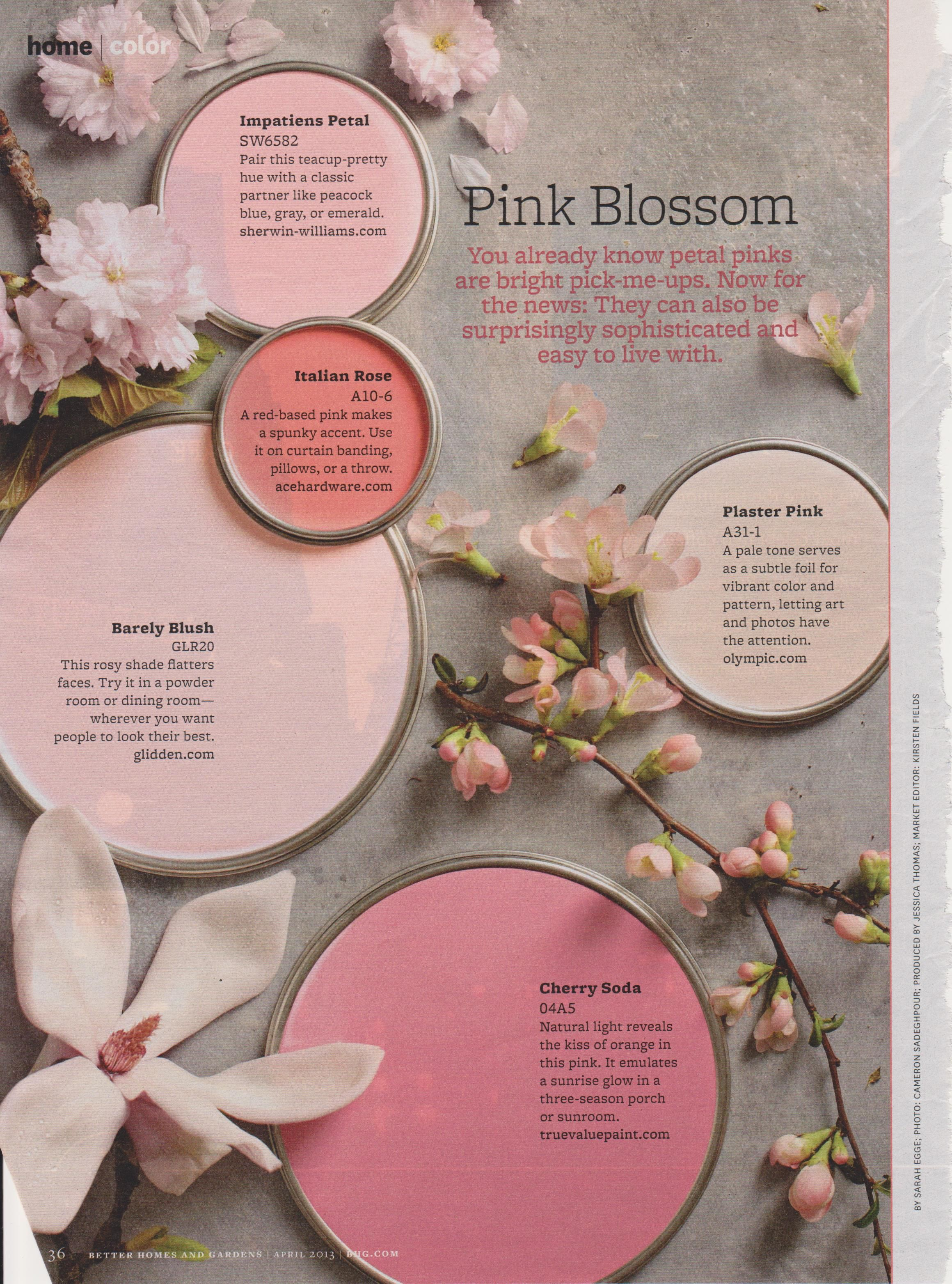 Better homes and Gardens April 2013 | Colors :: Pink & Red ...