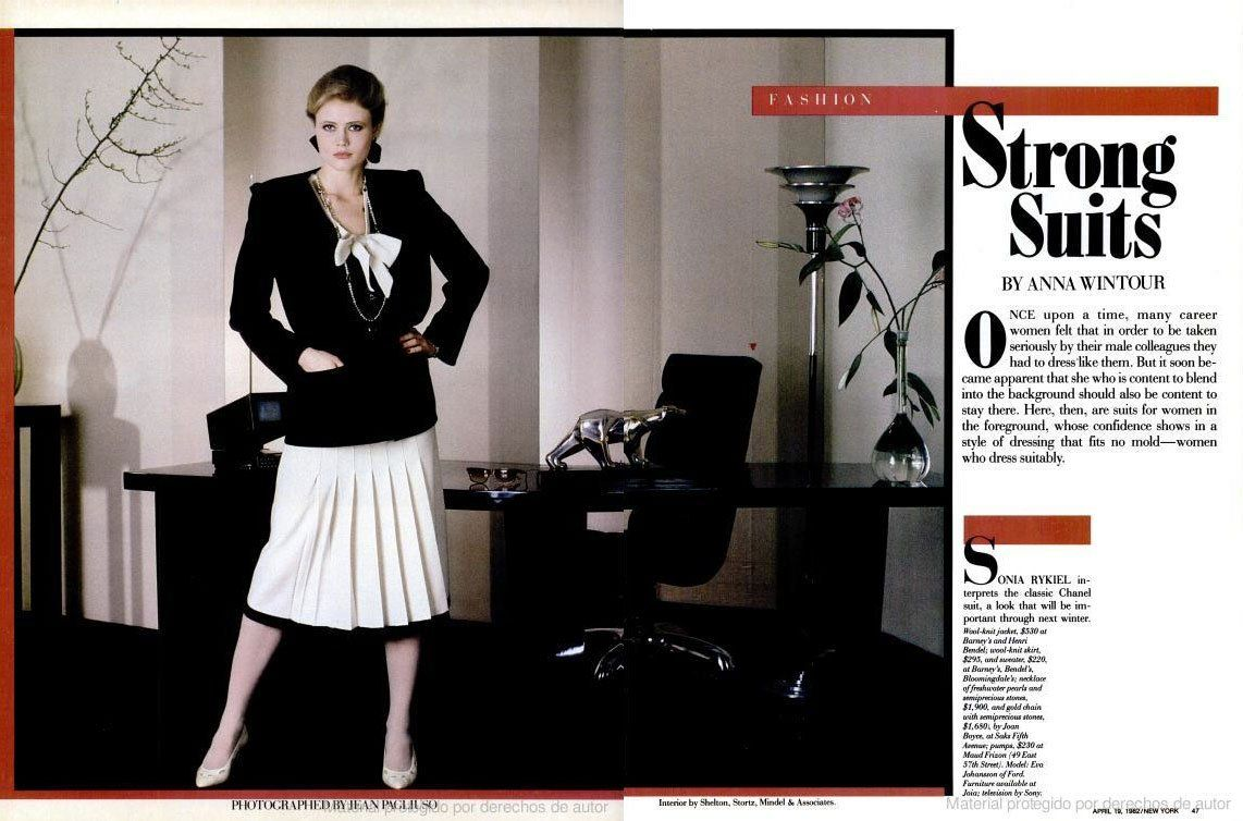 A selection of anna wintours new york magazine spreads
