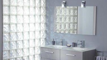 les briques de verre pour une salle de bain lumineuse - Carreaux De Verre Pour Salle De Bain