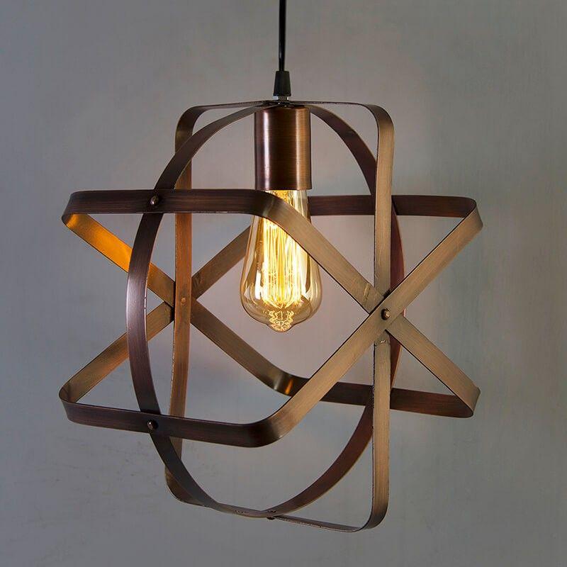 Homesake Industrial Globe Pendant Light Vintage Metal Spherical