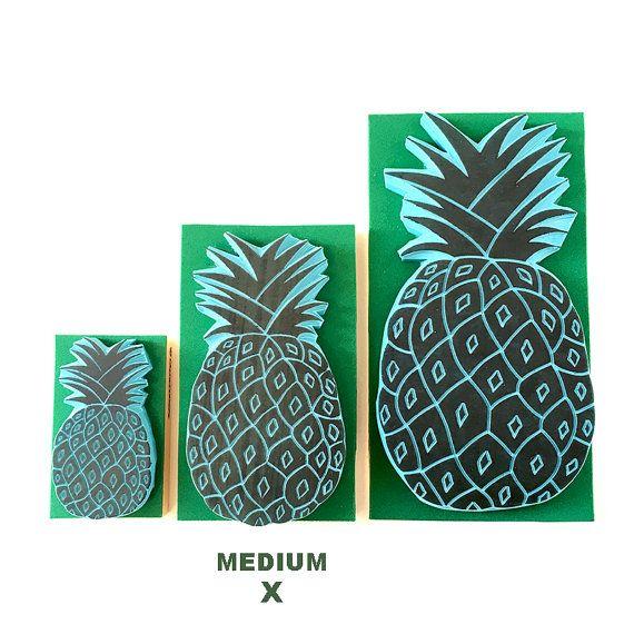 Ananas-Stempel Stempel von mittlerer Größe hand von CassaStamps