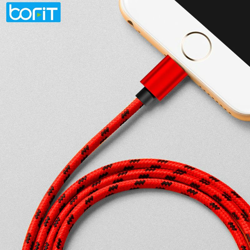 BOFIT 2A Micro USB Cable Nylon Braide Fast Charging Charger Mobile Phone Cable Data Sync Cable for IPhone 6/Samsung IOS Android