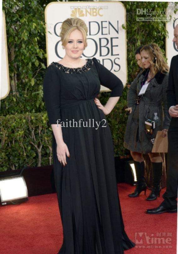 70th Golden Globe Awards Red Carpet Adele Black Empire Plus Size