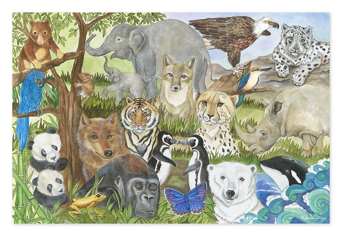 Melissa Amp Doug Endangered Species Jumbo Jigsaw Floor