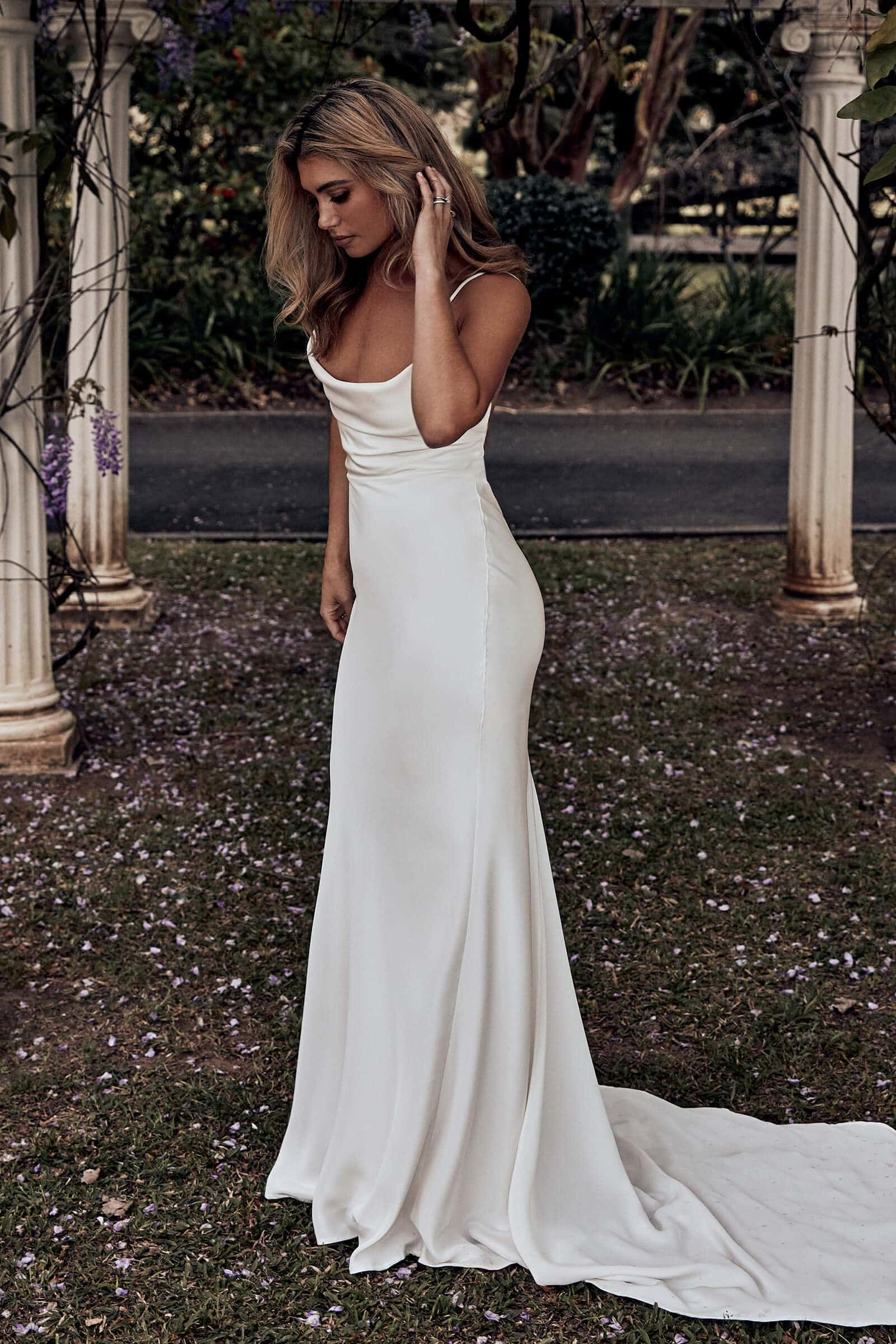 Honey Silk Gown | Silk Wedding Dress | Grace Loves Lace