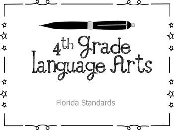 4th Grade Florida Common Core ELA Standard Posters