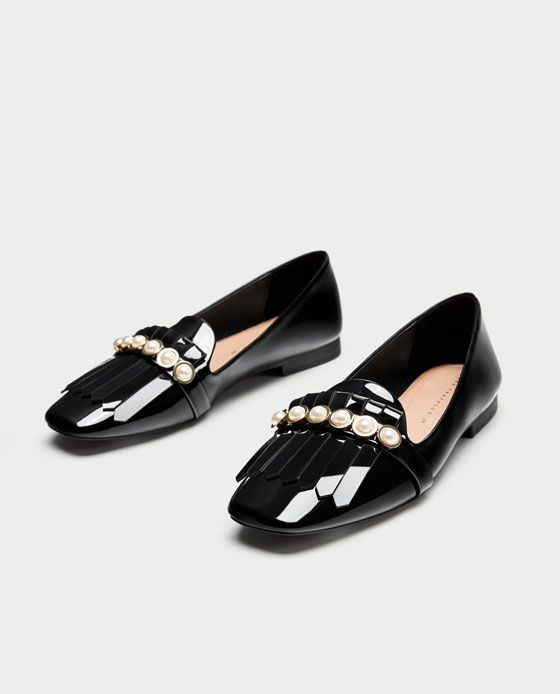 c2d39e79329 PENNY LOAFERS WITH PEARLS from Zara