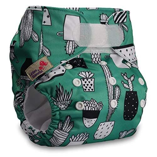 Set of 6 Littles /& Bloomz Reusable Pocket Cloth Nappy with 12 Bamboo Inserts Fastener: Hook-Loop Patterns 610