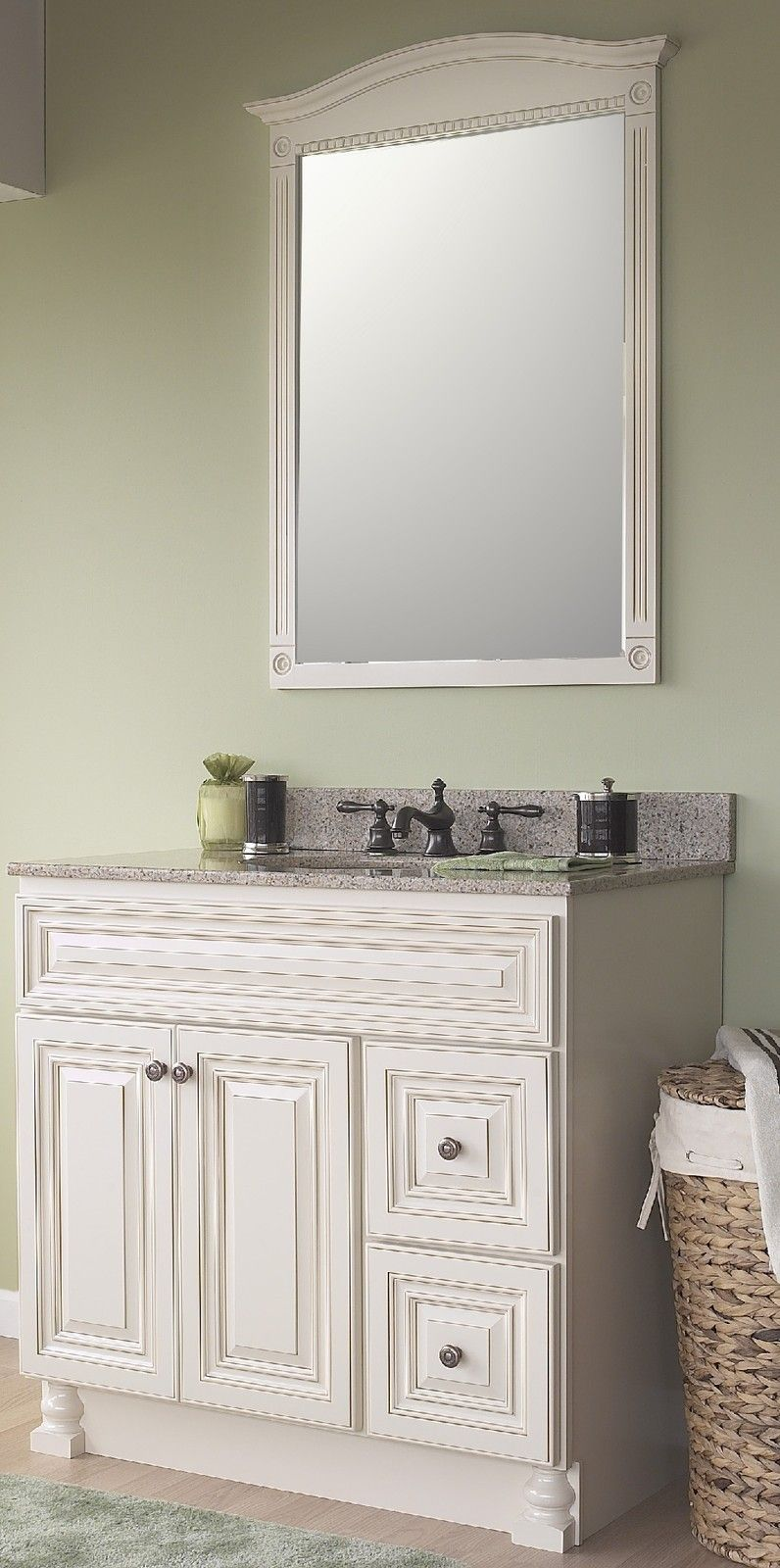 Best Jsi Wheaton Cream Bathroom Vanity Set 36 Cabinet Base 2 640 x 480