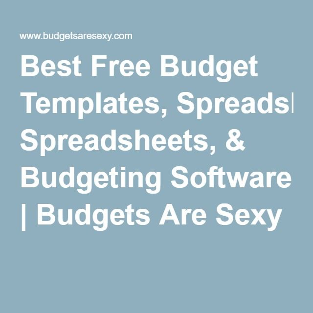 Best Free Budget Templates  Spreadsheets