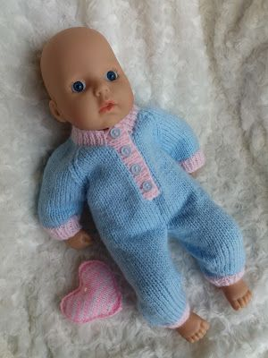 Linmary Knits: Baby Annabell Sleepsuit | Baby doll clothes ...