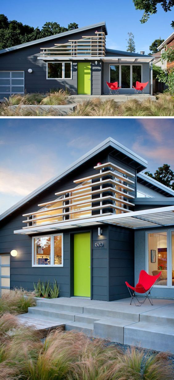 Menlo Park Townhouse By John Lum Architecture: 7 Examples Of Colorful Doors That Brighten Up These Modern