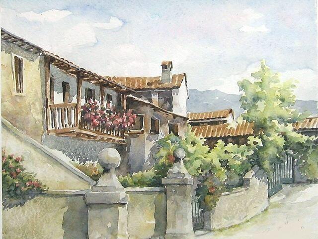 Acquerelli case di campagna cerca con google pittura for Disegni di cottage di campagna