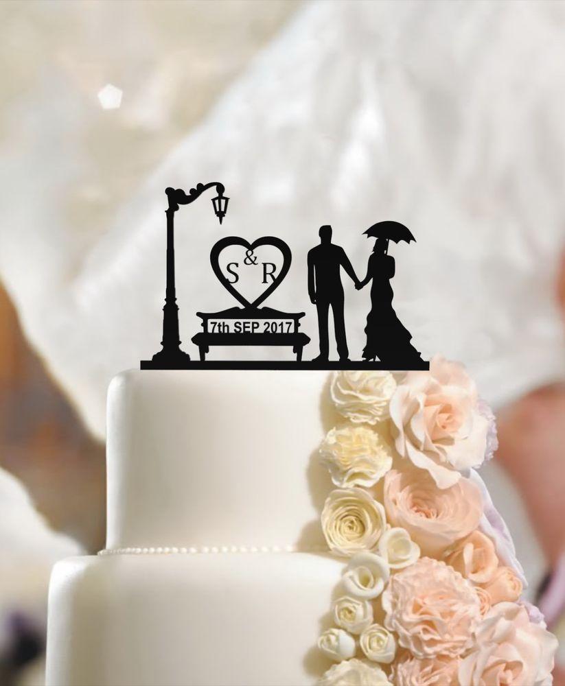 Personalised wedding cake topper mr u mrs custom name fiance