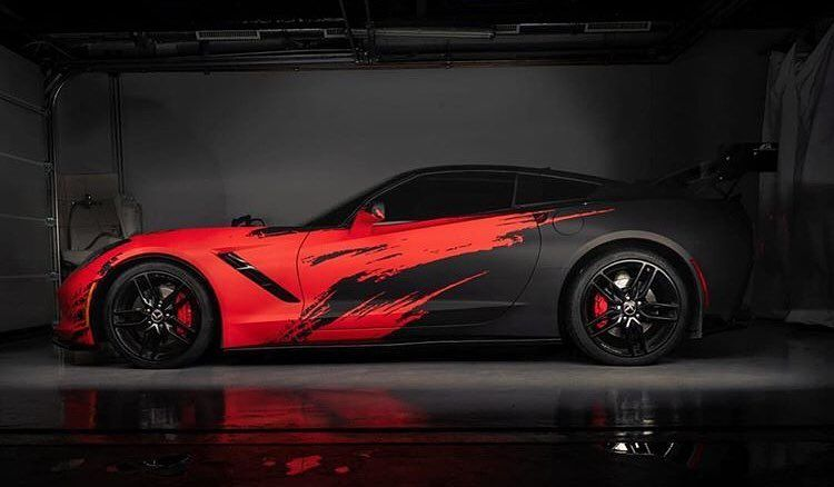What About This Corvette Amazing Work By Wrapstyle Brno Wrapstyle Wrapstyle Wrapping Super Luxury Cars Corvette Car Paint Jobs