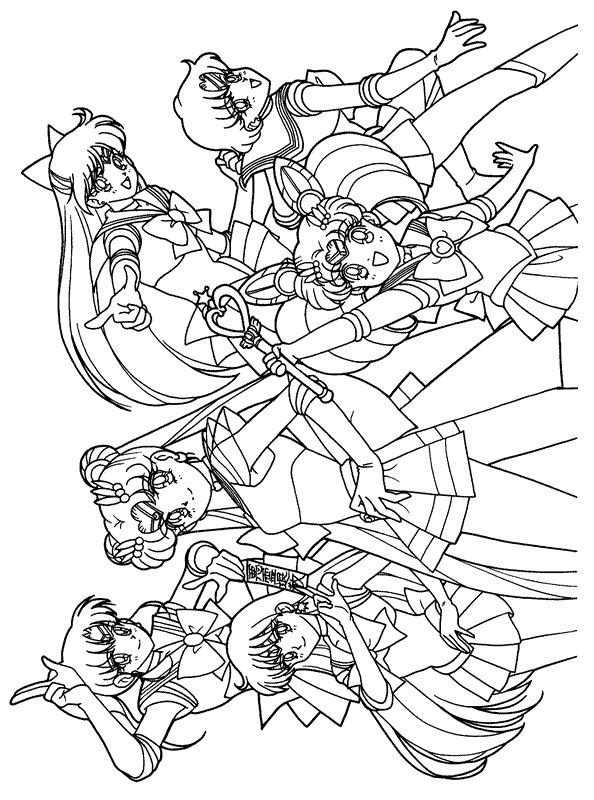 sailor moon kleurplaat kleurplaten prinses