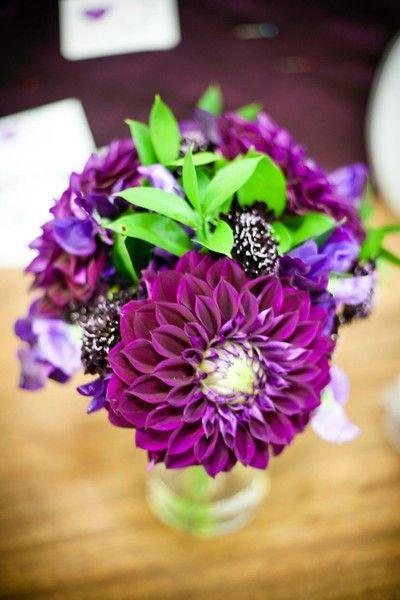 Electric Purple Dahlia Bouquet Cate Bates Events Design Www Bestweddingshowcase