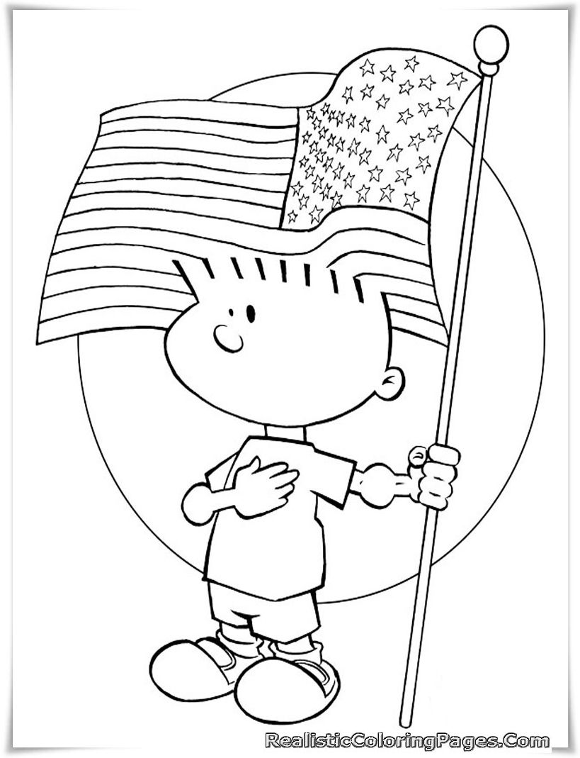 Free Printable 4th July Coloring Pages Kids