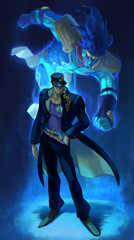 Jotaro By Nmrbkdeviantartcom On At Deviantart Paint And Drawing In